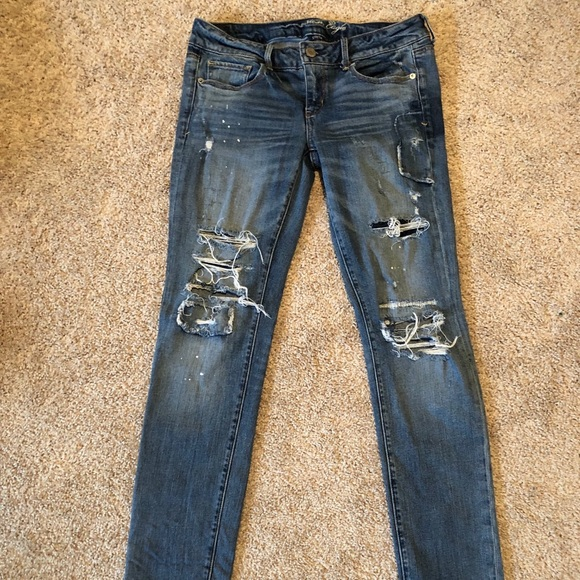 American Eagle Outfitters Denim - American Eagle Skinny Ripped Jeans